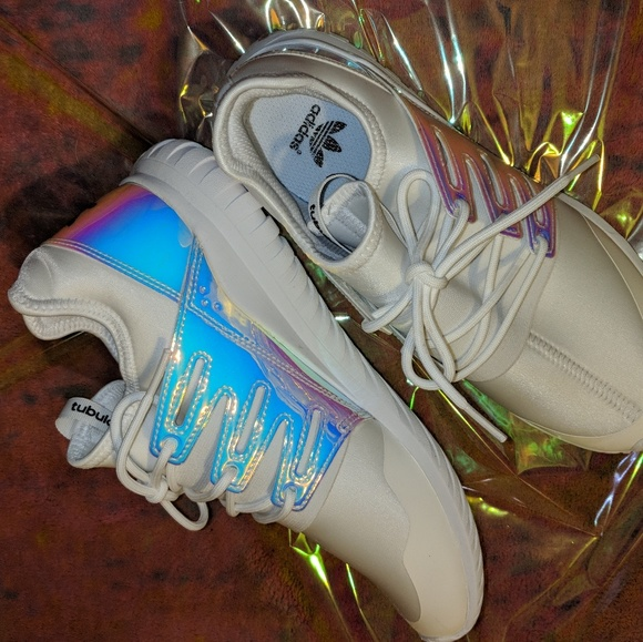 a79b766adfe Adidas tubular radial iridescent shoes holographic